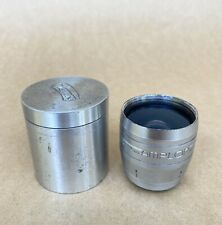 Wirgin 16mm Film Camera Lens W/ Metal Case, Vintage, Nice