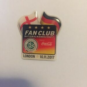 DFB Deutscher Fussball Bund Fanclub London 2017 Pin !!