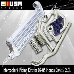 Intercooler+Pipings+Silicones+Clamps for 02-05 Honda Civic Si/TypeR 2.0 K20A EP3