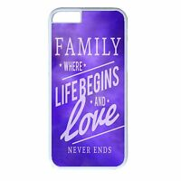 Family Quote Saying Pattern Cute Case Cover For Apple iPhone 4s 5s 5c 6 6s Plus