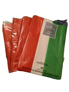 New Hallmark Tissue Paper 40 Sheets Assorted Red Green White Christmas Holiday