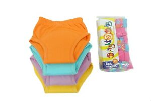 BrightBots Girls Potty Training Set   4 Training Pants & 6 Knickers - pack offer
