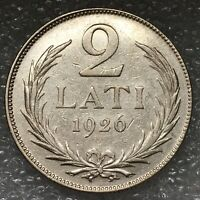 1926 Latvia 🇱🇻 Silver 2 Lati Coin, only two year mint, flat rate shipping.