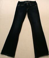 American Eagle Artist Women's Stretch Boot Flare Dark Blue Jeans 4 Long (28X33)