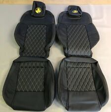 LEATHER SEATS UPHOLSTERY TRIM KIT HOLDEN VE SS UTE W/ YELLOW DIAMOND STITCHING