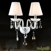 New Modern Crystal LED White Wall Lamp Wall sconce Light Living room lighting