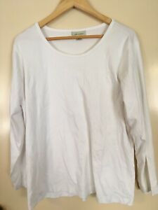 Autograph Size 20 Pure White Long Sleeve T Shirt Style Top 100% Cotton