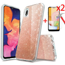 For Samsung Galaxy A20S A51 A71 4G Case Glitter Bling TPU Cover Screen Protector