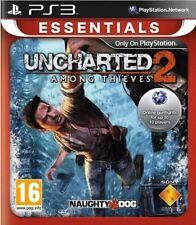 UNCHARTED 2 AMONG THIEVES PS3 PLAYSTATION 3 GAME USED IN GOOD CONDITION