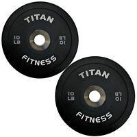 Titan Elite Olympic Bumper Plates 10 25 35 45 55 LB Black Steel Disc