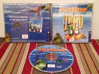 Justine et l'ile aux fruits PC Case-disc & manual FRENCH PAL