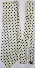 White With Black Polka Dots Necktie - Silk Necktie With Spotted Patterns