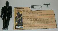 1982 GI Joe Army Commando Snake Eyes v1 Straight Arm Figure File Card *Complete