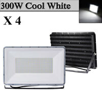 4X 300W LED Flood Light Cool White Arena Outdoor Garden Yard Spotlight IP67 NEW