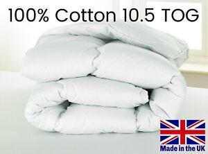 D&P Co 10.5 TOG DUVET 100% COTTON COVER DUVET Midweight Duvet *MADE IN UK*