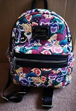 Disney Loungefly Alice In Wonderland Floral Mini Backpack Bag RARE Original US
