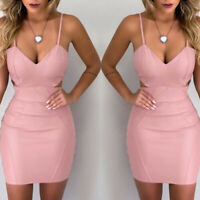 Womens Mini Bodycon Club Bandage Evening Party Sleeveless Cocktail Short Dress