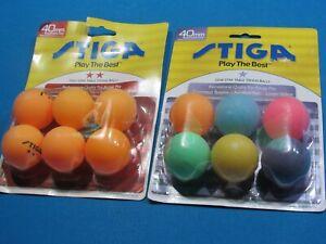 Stiga 1 & 2 Star White Ping Pong Table Tennis Balls 12 BALLS TOTAL