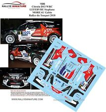 DECALS 1/43 REF 1586 CITROEN DS3 WRC LEFEBVRE RALLYE DU TOUQUET 2018 RALLY