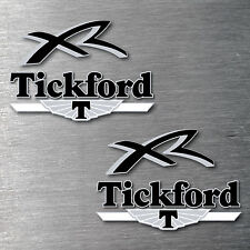 Tickford XR black 6 piece decal sticker Kit 7 yr water & fade proof vinyl badge