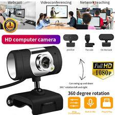 Hd 1080P Webcam Auto Focusing Web Camera Cam Microphone For Pc Laptop Desktop Us
