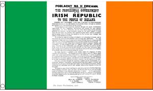 Ireland 1916 Proclamation Flag - 5 x 3 FT - Irish Republican Rebel Easter Rising