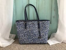 Michael Kors Jet Set Travel Navy LG Carry ALL Tote FREE SHIPPING