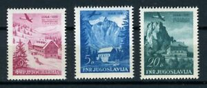 YUGOSLAVIA 1951 AIR MAIL COMPLETE SET Mi.#  655/620 PERFECT MINT NEVER HINGED