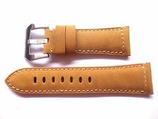 - 26mm Watch Strap Band Buckle- 26/22mm Brown Designer Leather Panerai Style