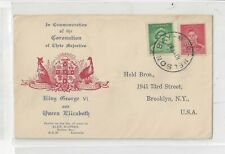 Australia 1937 Fdc Cover to Us, Complete Set, Kufner Cachet