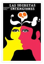"""Cuban movie Poster 4 film""""SECRETAS intenciones""""Spanish.The Secret intentions"""