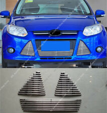 3pcs Front Bumper Center Grille Grill Mesh Vent Hole For Ford Focus 2012-14