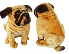 New Pug Dog Soft Plush Cuddly Toy Real Looking Large Brown 59cm