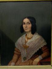 Biedermeier Portrait wohlhabende Frau um 1846 norddeutsch Hamburg? gute Qualität