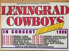 LENINGRAD COWBOYS 1996 TOUR - orig.Concert Poster  --  Konzert Plakat  A1 NEU