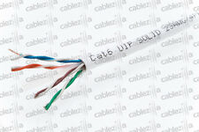 CAT6 COPPER 1000FT UTP SOLID White  CABLE NETWORK ETHERNET WIRE 550MHz RJ45 LAN