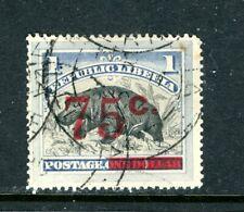 LIBERIA 91, 1902 75c ON $1 HIPPO, USED (LIB038)