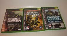 Tom Clancy's Ghost Recon 1 & 2 & Island Thunder Complete CIB Microsoft Xbox