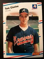 1988 Fleer TOM GLAVINE Rookie #539 Atlanta Braves Baseball Card