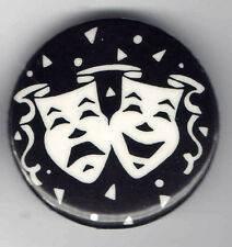 MASKS pin TRAGEDY & COMEDY pinback button THEATER Actor Actress