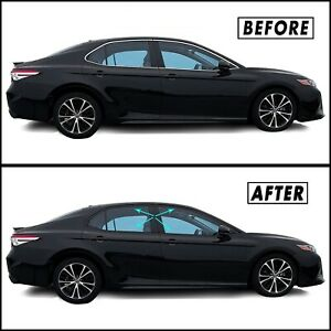 Chrome Delete Blackout Overlay for 2018-22 Toyota Camry Window Trim
