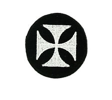 Patch iron on cross maltese  motorcycle biker german chopper gothic