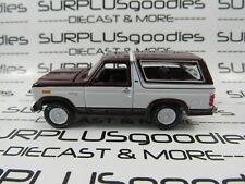 Racing Champions 1:64 LOOSE Collectible Maroon & White 1980 FORD BRONCO 4X4 SUV