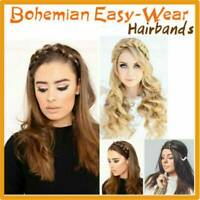 Synthetic Wig Braided Hair Band Elastic Twist Headband Princess Hair Accessories