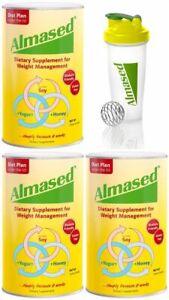 Almased Dietary Supplement, Weight Loss, 17.6 oz (3 Pack), 1 free Shaker Bottle