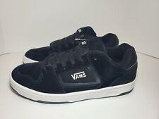 Mens Vans Docket Suede Skate Shoes Black/White #VN000KWN0XT Sz 10 DS