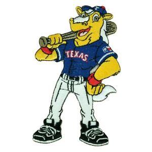 MLB Licensed Texas Rangers Captain Baseball Mascot Logo Patch Self Adhesive