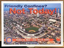 CHICAGO TRIBUNE CROSSTOWN SERIES CUBS SOX 2001 WRIGLEY NEWS STAND SIGN POSTER