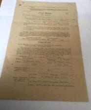 1935 ROYAL ARMY TENDER CLOSET SERVICE DOCUMENT