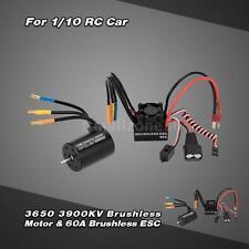 3900KV 3650 Brushless Motor&60A Splash-Proof ESC w/BEC for RC Car Cool X8U6